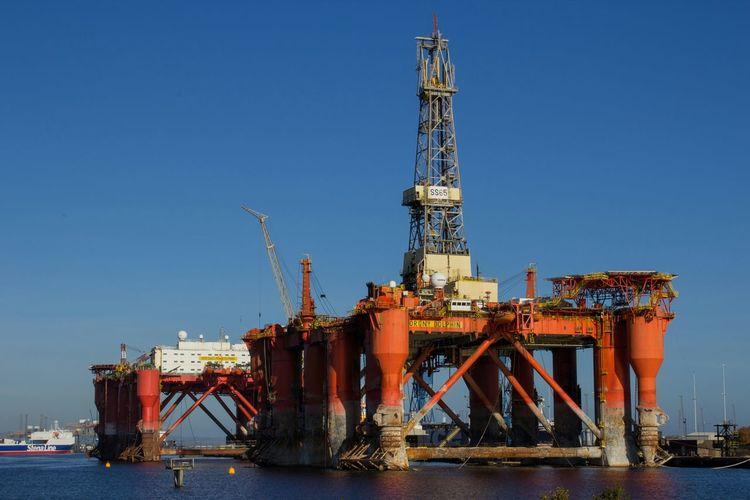 Oilrig Industrial Borgny Dolphin Blue Sky
