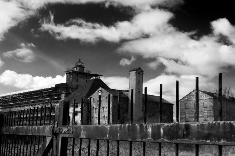 Ditherington Flax Mill -The first iron framed building Sky Architecture Outdoors No People Cloud - Sky Day Urban Inner City Deprived Derelict Poverty Abandoned Mill Industry Dramatic Sky Blackandwhite Shrewsbury Ditherington Landscape Taking Photos Exploring