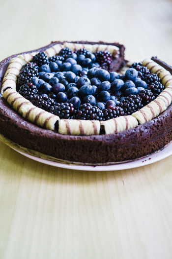 Tart Baked Blackberry Blueberry Brambles Cake Close-up Day Dessert Food Food And Drink Freshness Fruit Indoors  Indulgence No People Ready-to-eat Sweet Food Sweet Pie Table Tart - Dessert Temptation