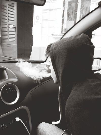 Blackandwhite Smoke Car Coolkids