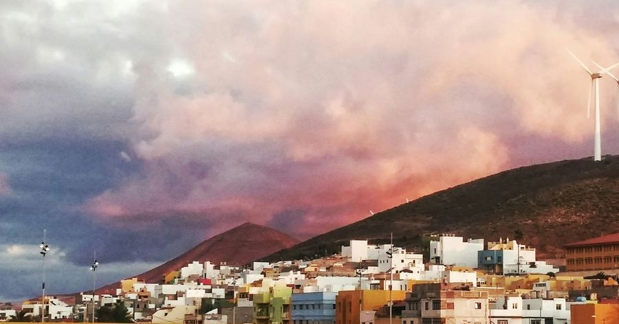 Sunset Turn Your Lights Down Low Clouds And Sky Canarias Gáldar