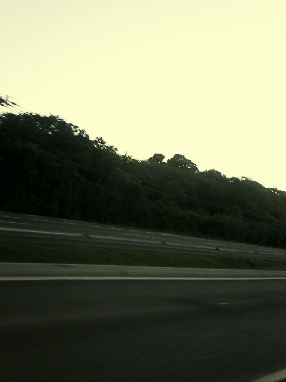 road, clear sky, no people, tree, outdoors, transportation, nature, landscape, day, sky, mountain