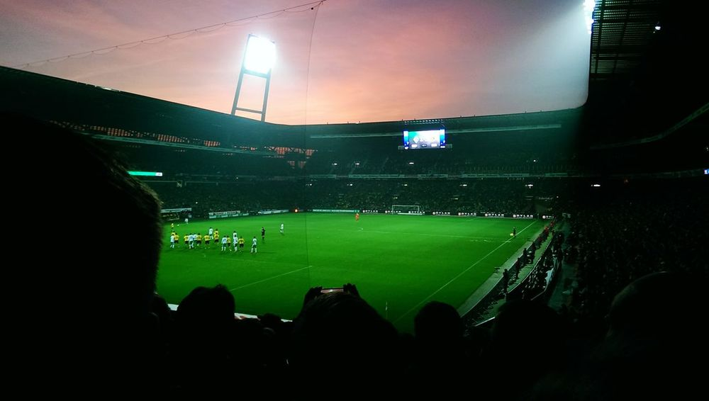 Stadium Sport Playing Field Match - Sport Soccer People Sports Team Soccer Field Green Color Werder Bremen Weserstadion