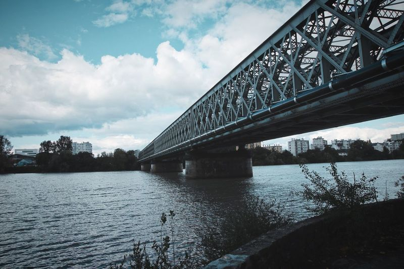 Bridge - Man Made Structure Built Structure Architecture Water Cloud - Sky Transportation No People Outdoors First Eyeem Photo