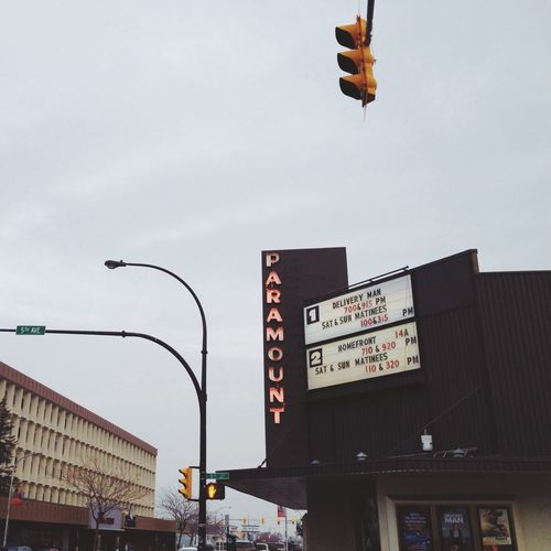 Small Town Feel Cinema Downtown on a damp, November afternoon.