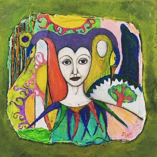 Blandteknik Crayons Kritor Konst ArtWork Art