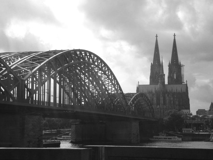 Rheinbrücke Kölner Dom Schälsick Architecture Built Structure Bridge Bridge - Man Made Structure Water Connection Building Exterior Cityscape River No People City