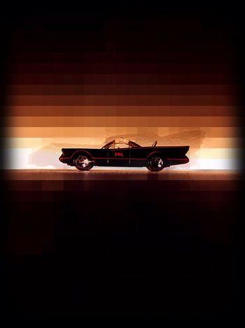 off to the Original Batmobile 1966 Adamwest 1989 Michaelkeaton Batman Silhouette Car No People Red Black