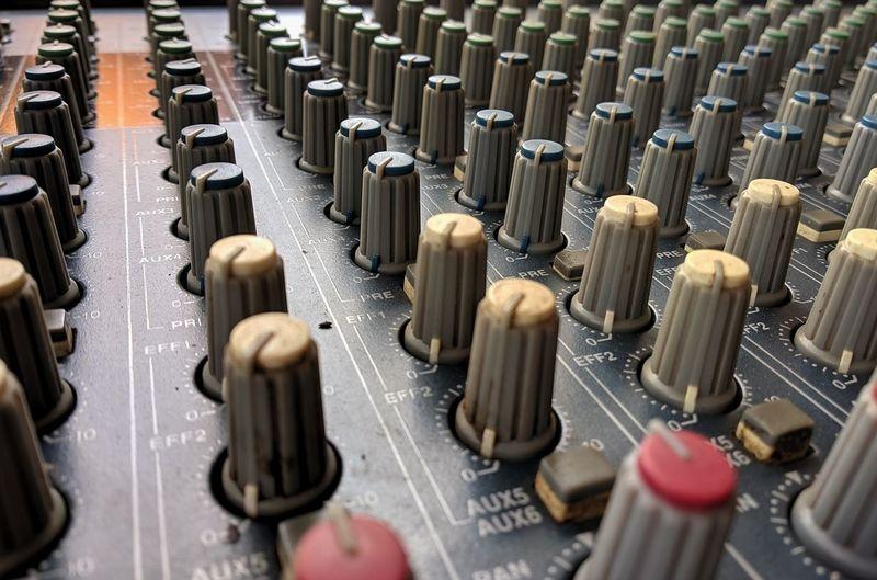 Full frame shot of amplifier