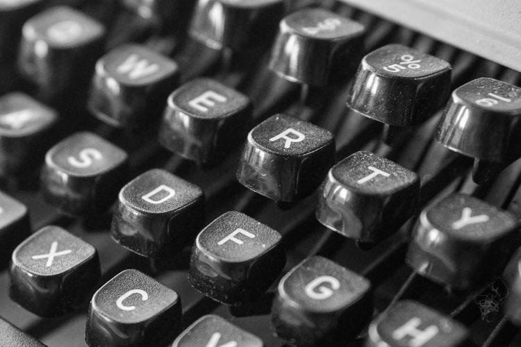 Aluminum Close-up Day Indoors  Metal No People Typewriter