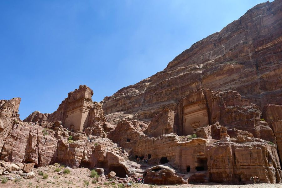 Desert Jordan Petra Ancient Civilization Arid Climate Beauty In Nature Geology Mountain Nature No People Physical Geography Rock - Object Rock Formation Sunlight Tourism Tranquil Scene Travel Travel Destinations