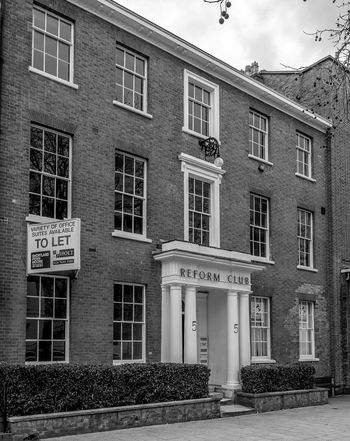 The Reform Club, Warwick Row, Coventry Black And White Monochrome Architecture Fujifilm X100T Coventry Coventry, England Club