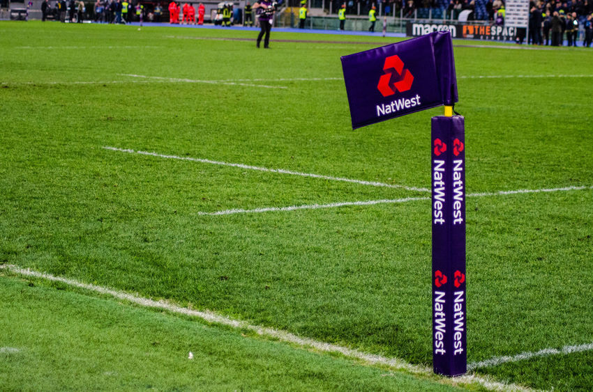 Green Lines Stadium Day Grass Green Color Natwest No People Outdoors Rugby Stadium