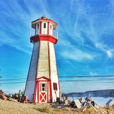 Gathering people • [TstPics ] This cute lighthouse was a beacon to many festival goers at The Burlington Gathering. • Tstcanada with @explorecanada & @nfldandlabrador • Explorecanada TravelNL • Travel Canada Newfoundland Photography • FireFoodMusic