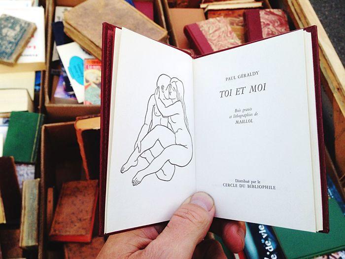 Book Reading ArtWork Toi & Moi Drawing