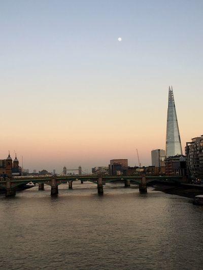 London The Shard, London Moonlight Moon Dusk In The City Dusk Dusk Sky Thames Thames River Neighborhood Map
