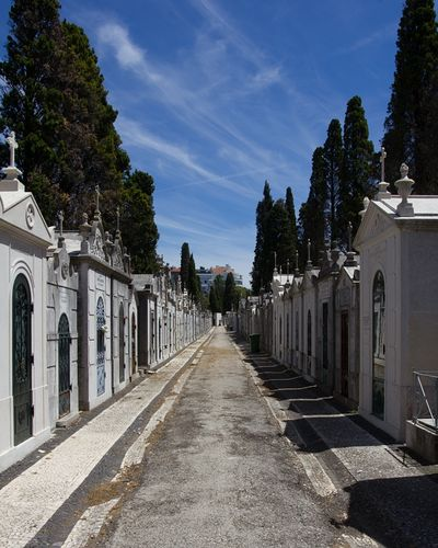 The Cemetery Prazeres in Lisbon has little streets and sort of tiny houses for the coffins. Cemetery Prazeres Lisbon Lisbon - Portugal Lisboa Building Exterior Nature Building Sky No People Religion Place Of Worship Outdoors Travel Destinations