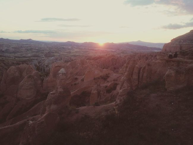 Sunset at Red Valley Cappadocia Turkey