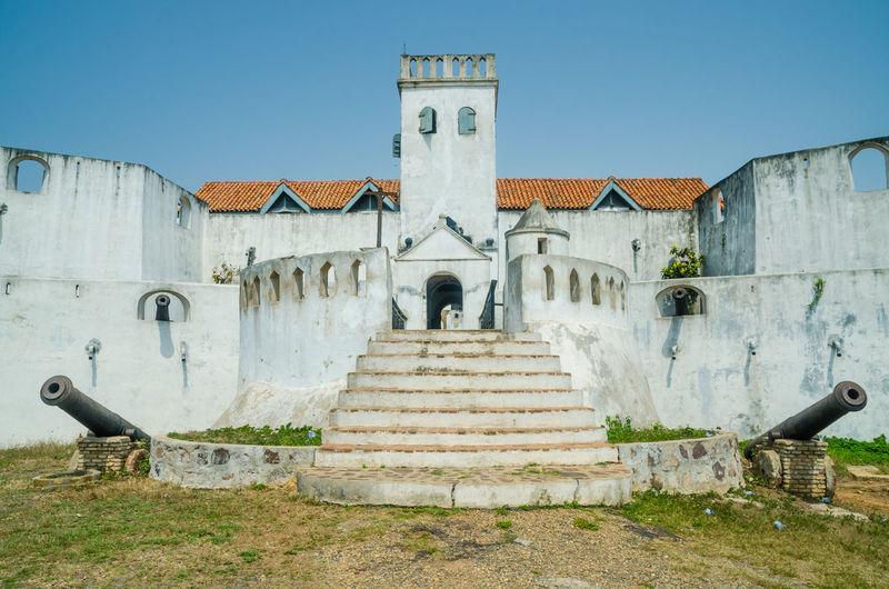 View of colonial fort coenraadsburg in elmina, ghana