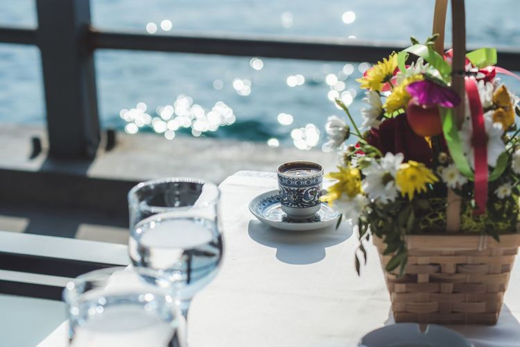 Coffe Table Flower Indoors  Vase No People Food And Drink Food Stories Restaurant Wineglass Place Setting Dining Table Bouquet Home Interior Centerpiece Close-up Chair Nature Day Freshness Food Plate