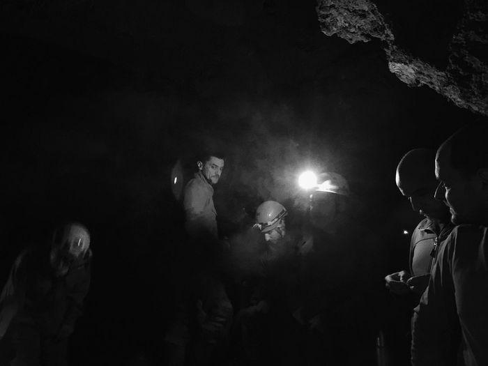 Veternica cave, Zagreb, Croatia, 2018. Photojournalism Documentary Cave Speleology Night Illuminated Men