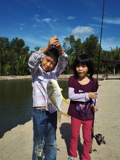 Fishing, children fishing,