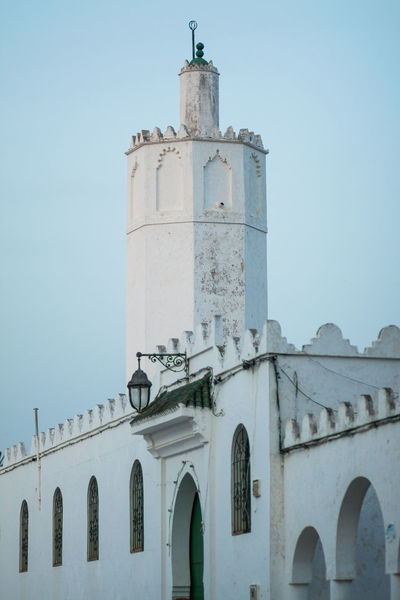 Architectural Column Architecture Asilah Blue Building Exterior Built Structure Column Day Design Exterior Historic History Low Angle View Morocco Mosque No People Outdoors Sky The Past Tourism Travel Travel Destinations Travel Photography Traveling