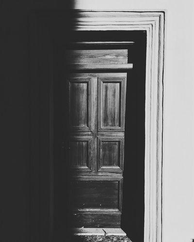 Entrance of open door