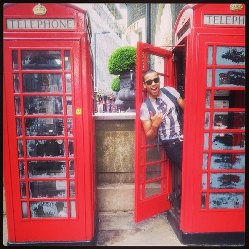 If you need me give me a Hollaa  Red Phoneboothes Ring telephone retro classic picoftheday tbt