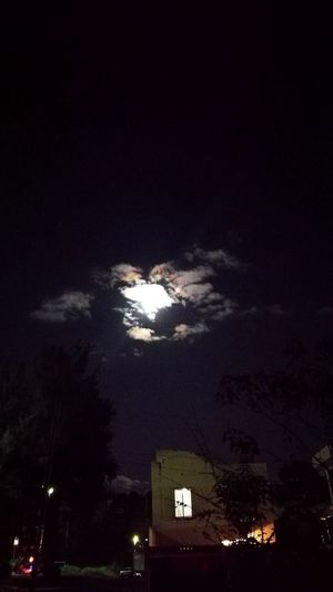 Moonlight Beautiful Sky And Clouds Moon Lights Up The Night Neighbourhood At Night Darkness And Beauty Spirits In Trees