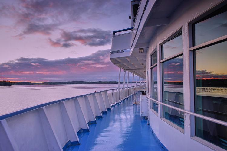 Abendhimmel Wolgaschiff SONY A7ii Nachtaufname Himmel Spiegelung Abendhimmel , Russland Wołga