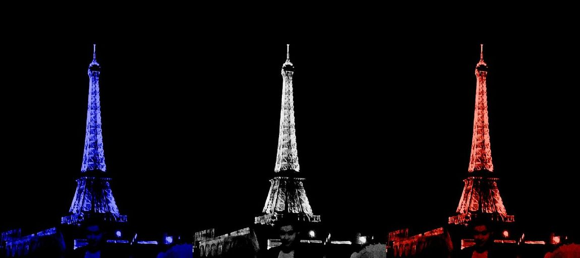 Crossing The Seine 14thJuly Eyeem Popart Culture Eiffel Tower France 2014