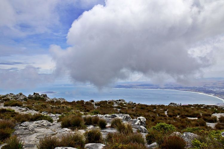 Cloud - Sky Beauty In Nature Sky Scenics - Nature Environment Landscape Nature Non-urban Scene No People Geology Outdoors Water Land Table Mountain National Park Robben Island