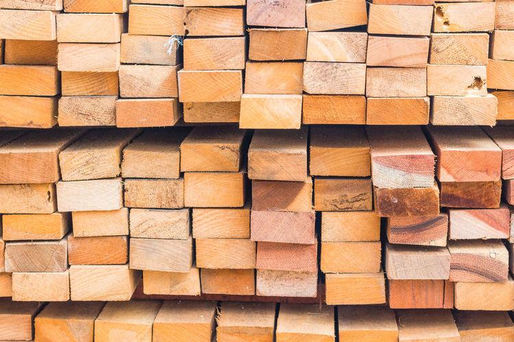 Full frame shot of stacked planks