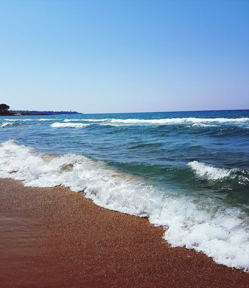 Sea Beach Sea Wave Sand Nature Vacations Sunny Travel Destinations No People Day Clear Sky