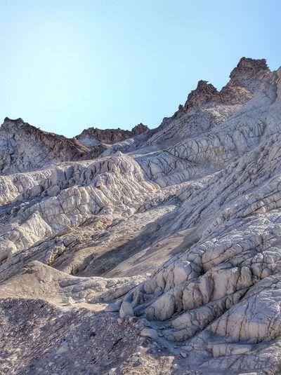 Clear Sky Mountain Arid Climate Extreme Terrain Sky Landscape