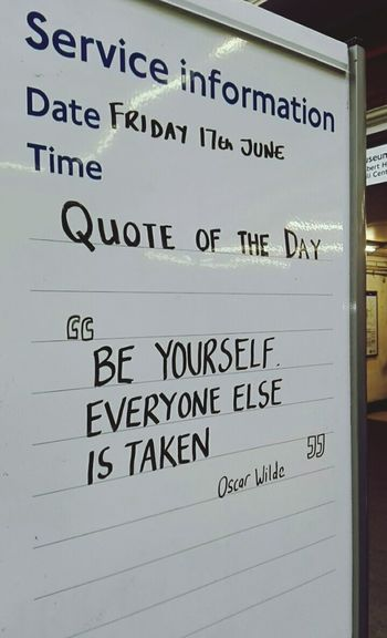 The things you find in the London tube...Finding New Frontiers Secret Places Communication Message Handwriting  Text Oscar Wilde London London Underground LondonTube Taking Photos Snapshots Of Life MotivationalQuotes Oscarwildequotes Check This Out Enjoying Life Beyourself MissLondon  My Year My View