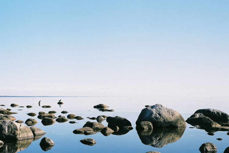 Beach Beauty In Nature Clear Sky Copy Space Day Horizon Over Water Nature No People Outdoors Pebble Pebble Beach Rock - Object Scenics Sea Sky Tranquil Scene Tranquility Water