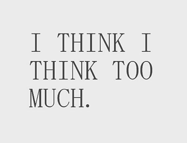 Thinking Somuch Black & White Follow4follow 😊