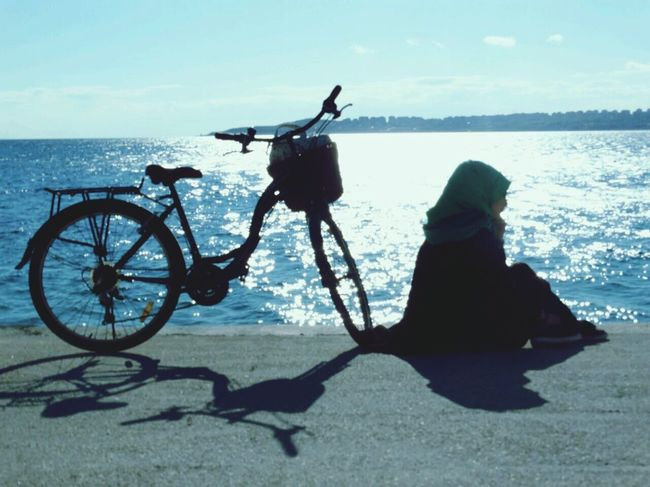 Bicycle Sea Peace Sea View View Happeness Coast