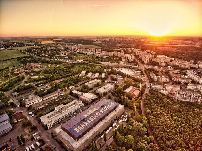 Barrandov studios Film Studio EyeEmNewHere Architecture Building Exterior Sunset Built Structure Sky Building City Aerial View Nature Cityscape Landscape No People Outdoors #urbanana: The Urban Playground
