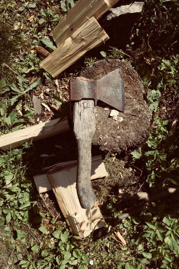 Country Living Farm Farm Life Work Axe Close-up Country Life Countryside Firewood Forest Log Nature No People Outdoors Still Life Tool Wood Wood - Material