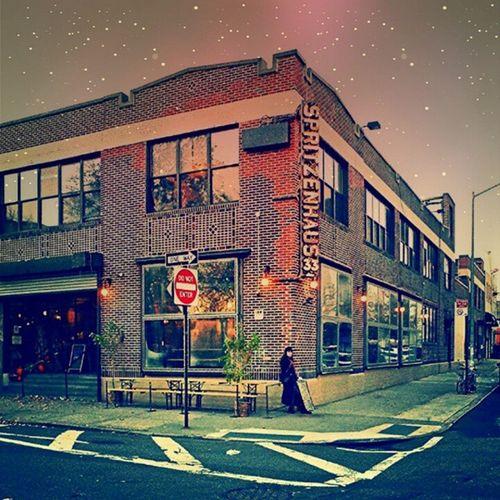 Deserted streets and frigid temps = Hottoddy time! Brrrrr Newyorkwinters Spritzenhaus cracklingfire beergarden brooklyn