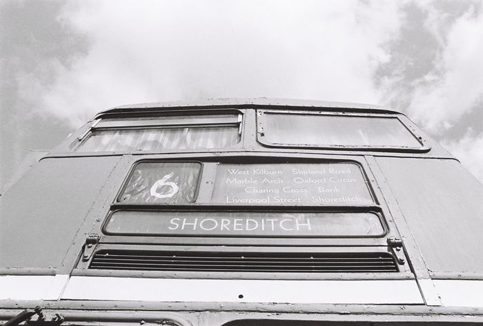 35mm Film Blackandwhite Bus Cloud Cloud - Sky EyeEm Best Shots Film Film Photography Ishootfilm Low Angle View Sky