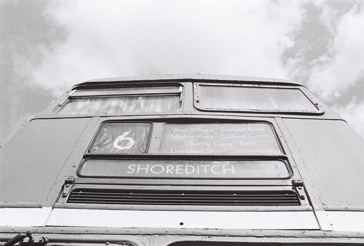 35mm Film Blackandwhite Bus Cloud Cloud - Sky EyeEm Best Shots Film Film Photography Ishootfilm Low Angle View Sky