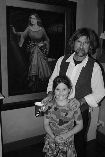 BRUNO TORF -Artist & Sculptor with Megan - Marysville Victoria. Artist BrunoTorf Day Front View Happiness Indoors  Lifestyles Looking At Camera Marysville Vic Portrait Real People Sculptor Smiling Standing Two People Young Adult Young Women