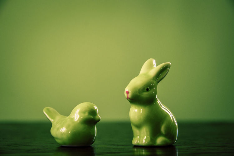 Bunny  Green EyeEmNewHere Photooftheday Photography Poland Animal Themes Animal Chicken - Bird Green Background Close-up Green Color Figurine  Easter Bunny Easter Easter Egg Rabbit - Animal Holy Week Decorative Art