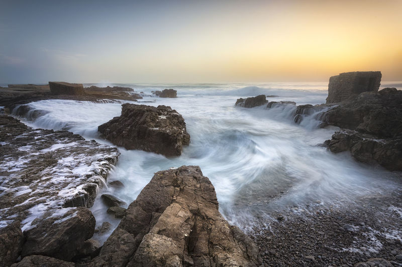 Rock Sea Water