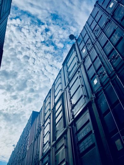 Cloud - Sky Low Angle View Architecture Building Exterior Built Structure Sky Building Blue