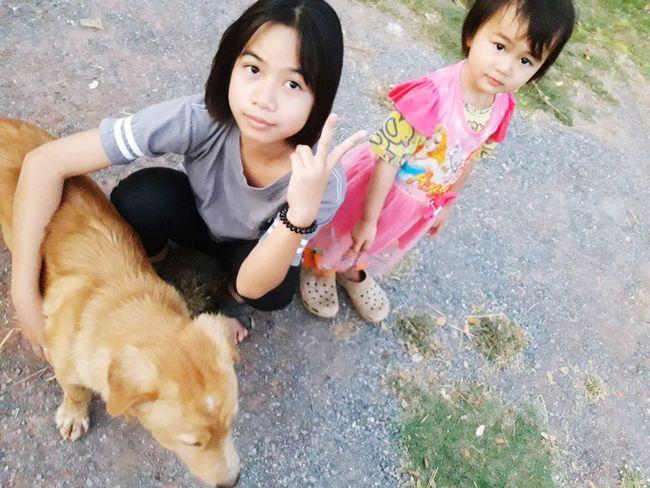 Pets Dog One Animal Child Friendship Children Only Girls